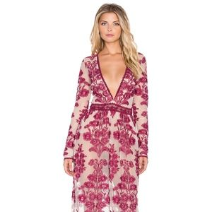 For Love And Lemons Temecula Maxi Dress - Wine XS
